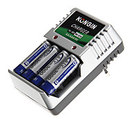 Kongin Battery Charger for AA/AAA/9V/Ni-MH/Ni-Cd with EU Plug(Included 4xAA)