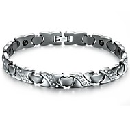 Set Auger Anti-radiation Health Lady Love Titanium Steel Bracelet