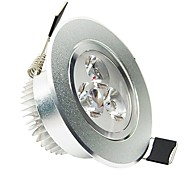 3W LED Ceiling Lights Recessed Retrofit 3 High Power LED 200 lm Cool White AC 100-240 V
