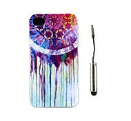 Dreamcatcher Pattern TPU Soft Case and Stylus for iPhone 4/4S