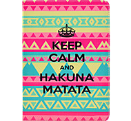 Carpet Hakuna Matata Pattern PU Leather Full Body Case with Stand for iPad Air