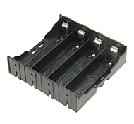 DIY 4-Slot 18650 Battery Holder With Pins - Black