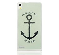 Big Anchor Pattern Hard Case for Huawei Ascend P6