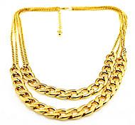 collana della lega choker doppia catena di moda shixin® (1 pc)