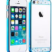 Comma Crystal Series electrolíticos caja dura transparente para el iPhone 5/5S PC (colores surtidos)