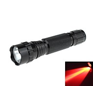 Zweihnder WF-501B-3 impermeabile 1-Mode 1xCREE XP-G R5 LED Red Light Torcia (180LM, 1x18650, Nero)