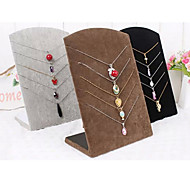 Classic Five Sets Necklace Pendant Board Multicolor Paper Flannelette Jewelry Displays(1 Pc)(More Color)