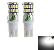 HJ  T10 2W 350lm 6000-6500K 36*SMD 3014 LED Bulb for Car Turn Signal Light  White Light (12-24V, 2Pcs)