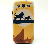 Lion Cartoon Pattern Hard Case Cover for Samsung Galaxy S3 I9300