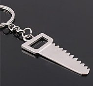 The Saw Shape Metal Silver Keychain Toys