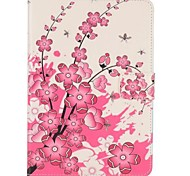 rose fleur de pêcher retourner Housse portefeuille magnétique pour Mini iPad 3, iPad 2 Mini, Mini iPad