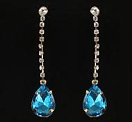 Mode Juwel diamanted goldenen Tropfen-Ohrring (1 Paar)