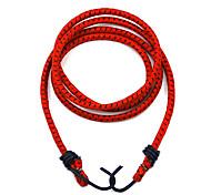 Kheng Rubber + Metal Hook Red Bike Bicycle Luggage Bundling Rope