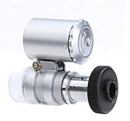 Microscope Mini 60X avec le 2-éclairage LED devise détection de la lumière UV pour Iphone 5/5S (3 * LR1130)