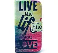 leben und das Leben der Meeres Muster Ganzkörper-Fall-Abdeckung mit Kartenhalter für Samsung Galaxy i9190 Mini s4