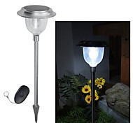 5-LED Remote Control Solar Color Changing Lawn Light Pathway Garden Lamp