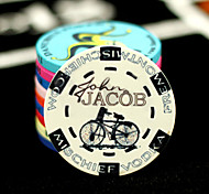Bike Pattern Texas Hold'Em Poker Ceramic Mahjong Chips Entertainment Toys
