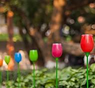 juego de 4 blanco 2 llevó la energía solar al aire libre tulipanes luz de la lámpara de participación vía patio jardín