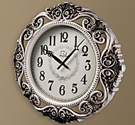"20""H Europen Style Antique Round White Wall Clock"