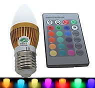 Zweihnde E26/E27 3 W 1 Integrate LED 180-200 LM RGB C Dimmable/Remote-Controlled/Decorative Candle Bulbs AC 85-265 V