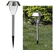 1-LED Whte Solar stainless steel garden light spike mounted Lamp