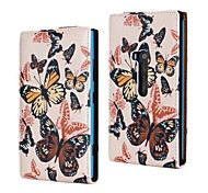 Colorful Butterfly Pattern PU Leather Full Body Case for Nokia Lumia 920/N920