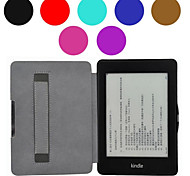 Shy Bear™ Hand Holder Style Leather Cover Case for Amazon Kindle Paperwhite 6 Inch Ebook