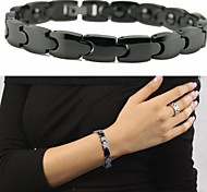 Brazil Black Gallstone Anti-fatigue Anti-radiation Health Ceramic Bracelet