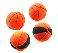 borracha bonito basquete destacável em forma (cor aleatória x 2 pcs)