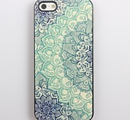 Blue Lotus Pattern Aluminum Hard Case for iPhone 4/4S