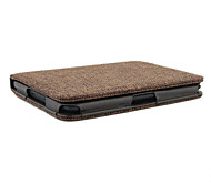 Rural Style Canvas Surface Auto Sleep and Wake Up PU Leather Case for Kindle 4/5(Assorted Color)