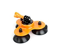 Big Size Removable Gopro Suction Cup Mount with Screw (Orange)