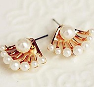 Coway Lady Fashion Exquisite  After Hanging Cute Little Pearl Earrings