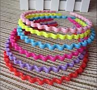 Korea Minimalist Paint Candy Colors Wave Headbands