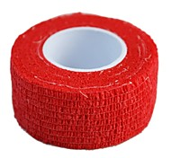 Sports Outdoor 2.5cm x 4.5m 12Rolls/lot Self Adhesive Nonwoven Cohesive Elastic Bandage (Assorted Color)