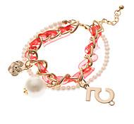 Classic Pearl Number 5 Shape Charm Bracelets(1 Pc)