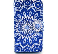 Retro Sunflower Pattern PU Leather Full Body Case with Card Slot Stand for Nokia Lumia N520