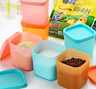 6pcs Mini Plastic Flavoring Boxes(Random Color)
