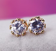 Women Fashion Delicate 18K Yellow Gold Plated Earring