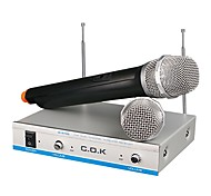 C.O.K W-970B Home Used Wireless Voice Chat Karaoke One On Two Microphone