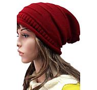 Для женщин Для женщин На каждый день Вязаная шапочка , Трикотаж , Зима