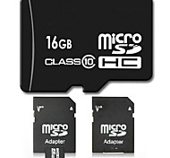 Clase 10 16gb micro sd tf tarjeta de memoria flash SDHC con adaptador sd