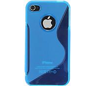 Calidad de silicona caso de la piel para el iPhone 4/4S (colores surtidos)