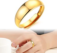 Contracted Smooth 18 K Gold Plating Female Ring Opening All Yards