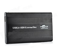 "IDE to USB 2.0 HDD External Aluminum Box Case for 2.5"" Mobile Hard Disk Drive - Black"