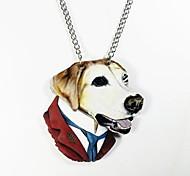 Dog Pattern Wood Necklace