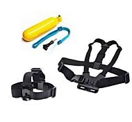acessórios GoPro 3 em 1 peito cinta + cabeça cinta + flutuantes pega para GoPro Hero 1 2 3 3 + câmera