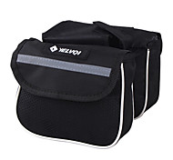 YELVQI Mash Cloth Black Waterproof Double Side Cycling Frame Bag