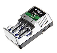 Kongin Battery Charger for AA/AAA/9V/Ni-MH/Ni-Cd with AU Plug(Included 4xAAA)
