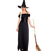 Charming Witch Black Polyester Women's Halloween Costume